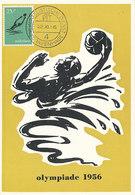 D37074 CARTE MAXIMUM CARD 1956 NETHERLANDS - WATERPOLO OLYMPICS 1956 AUSTRALIA CP ORIGINAL - Wasserball