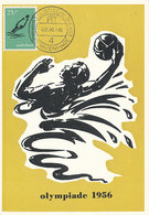 D37074 CARTE MAXIMUM CARD 1956 NETHERLANDS - WATERPOLO OLYMPICS 1956 AUSTRALIA CP ORIGINAL - Water Polo