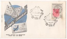 REPUBBLICA !!! 1959 ITALIA GIORNATA DEL FRANCOBOLLO FDC SU BUSTA !!! 167/IT - 6. 1946-.. Republic