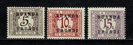 Ruanda Urundi 1924 OBP/COB TX 9**, 10**, 11** MNH - Ruanda-Urundi