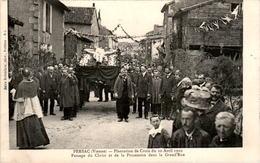 PERSAC Canton Lussac-les-Châteaux Plantation De Croix Du 10 Avril 1910 Passage Du Christ Procession VIENNE 86320 TB.Etat - France
