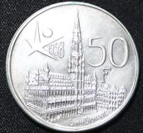 BOUDEWIJN 50 FR  EXPO 1958   PRACHTIGE STAAT 2 SCANS - 1951-1993: Baudouin I