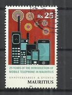 MAURITIUS 2014 - MOBILE TELEPHONY - POSTALLY USED OBLITERE GESTEMPELT USADO - Mauritius (1968-...)