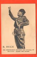 Milano 1925 DUCE Mussolini Bromofoto Su Cartoncino X Discorso A Piazza Del Duomo - Persone Identificate