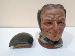 Antigua Tabaquera. Firmada Buxó. Ignasi Buxó Gou, 1869-1944. Olot, España. - Ceramics & Pottery