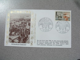 Enveloppe 1984 40 è Anniversaire - Débarquement Bayeux 1 Er Ville De France Libérée  Cachet Bayeux - Marcophilie (Lettres)