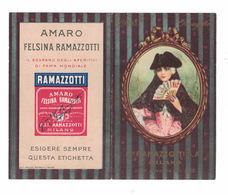CALENDARIETTO  RAMAZZOTTI AMARO FELSINA 1928  SEMESTRINO - Calendari