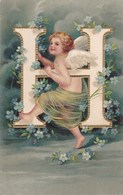 ALPHABET - H - Angelots - Postcards