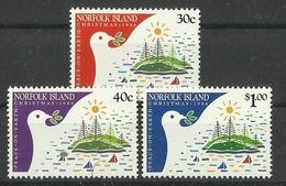 NORFOLK ISLAND 1986 CHRISTMAS SET MNH - Kerstmis