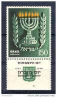Israel - 1955, Michel/Philex No. : 107,  - MNH - *** - Full Tab - Neufs (avec Tabs)