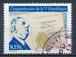 France - Cinquantenaire De La Ve République YT 4282 Obl. Cachet Rond - France