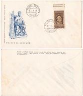 REPUBBLICA !!! 1961 ITALIA PLINIO IL GIOVANE FDC SU BUSTA !!! 179/IT - 1961-70: Marcophilie