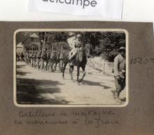 PHOTO  RARE -  MILITARIA -  Artilleurs De Montagne En Manooeuvres à  LA GRAVE -  1926 - Guerre, Militaire