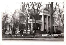 B&W RPPC - Real Photo Véritable - Sherbrooke - Club Social Avant L'incendie De 1954 - 2 Scans - Sherbrooke