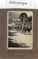 PHOTO  RARE -  MILITARIA -  Artilleurs De Montagne  à  LA GRAVE -  1926 - Guerre, Militaire