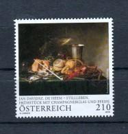 """Österreich 2018:  """"J.D.De Heem-Stillleben"""" Postfrisch (siehe Foto) - 1945-.... 2. Republik"""