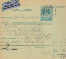 Paketkarte Wien Nach Tabor 1916 (rs: Bergstadtl Hory Ratiborske) - 1850-1918 Empire