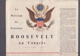 Message Du Président ROOSEVELT Au Congrès 06 Janvier 1942 - Documents Historiques