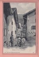 OUDE POSTKAART ZWITSERLAND  -  SCHWEIZ -    STRASSE IN FILISUR - ALBULABAHN - 1900'S - GR Grisons