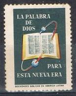 Viñeta, Label, Cinderella SOCIEDADES BIBLICAS America Latina, Religion * - Erinnofilia