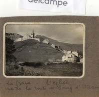 PHOTO  ANCIENNE -  LA GRAVE -  L' Eglise Vue De La Route De Bourg D' Oisans  - 1926 - Orte