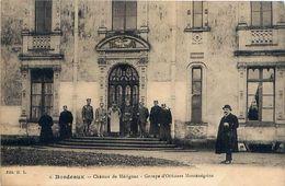Cpa MERIGNAC 33 BORDEAUX - Château De Mérignac - Groupe D' Officiers Monténégrins - Merignac