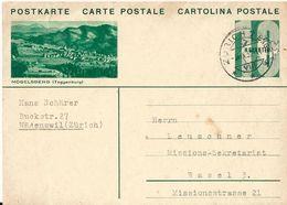 """Schweiz Suisse 1932: Bild-PK / CPI """"MOGELSBERG (Toggenburg)"""" Mit O ZÜRICH 3.IX.1932 Nach Basel - Stamped Stationery"""