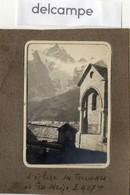 PHOTO  ANCIENNE -  L' Eglise Des Terrasses Et La Meije  3.987m  - 1926 - Orte