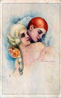 Cpa T. CORBELLA - Pierrot Et Colombine - Corbella, T.