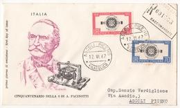 REPUBBLICA !!! 1962 ITALIA ANTONIO PACINOTTI FDC SU BUSTA !!! 187/IT - 6. 1946-.. Republic