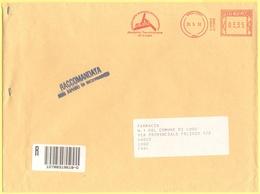 ITALIA - ITALY - ITALIE - 2002 - 03,35 EMA, Red Cancel - A.u.s.i. - Viaggiata Da Lugo Per Lugo - Affrancature Meccaniche Rosse (EMA)