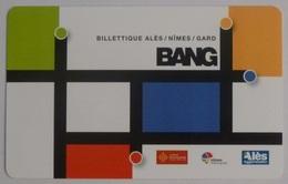 Ticket Bus BANG - ALES / NIMES / GARD - Verso Rouge Nouveau Réseau LIO - Europe