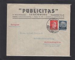 PUBLICITAS,LUXEMBURG.BRIEF MIT HITLER/HINDENBURG MISCHFRANKATUR. - 1940-1944 German Occupation