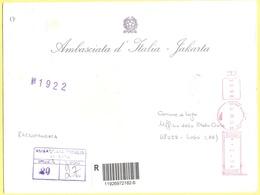 ITALIA - ITALY - ITALIE - 2002 - 02,94 EMA, Red Cancel - Ambasciata D'italia - Viaggiata Da Roma Per Lugo - Affrancature Meccaniche Rosse (EMA)