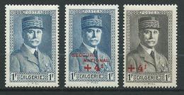 ALGERIE 1941/42 . N°s 168 , 169 Et 170 . Neufs * (MH) . - Algeria (1924-1962)