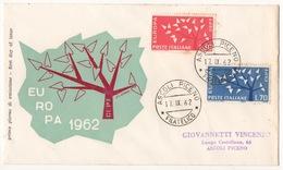 REPUBBLICA !!! 1962 ITALIA EUROPA FDC SU BUSTA !!! 191/IT - 1961-70: Marcophilie