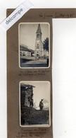 2 Photos LA GRAVE 1926 - Place Et Eglise De Villars D' Arene - Plateau De Paris, Grange Abandonnée Au Fond La Meije - Orte