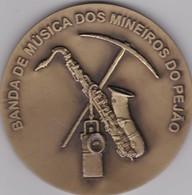PORTUGAL MEDAL - BANDA DE MUSICA DOS MINEIROS DO PEJÃO - AVEIRO - MUSIC BAND  THE MINERS OF PEJÃO - CASTELO DE PAIVA - Professionals / Firms
