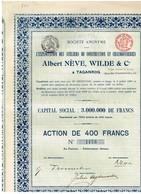 Société  Pour L'Exploitation Des Ateliers De Construction Et Chaudronneries Albert Nève, Wilde & Cie à  Taganrog - 1912 - Russie
