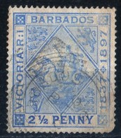 Barbados Victoria Jubileum 1897 2 1/2 Penny   Used   See Scan Light Trace Of Hinge - Barbados (...-1966)