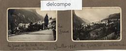 2 Photos LA GRAVE 1926 - La Grave Et La Route Du Lautaret Vus Du Tunnel - La Grave Et L' Arboretum - Orte