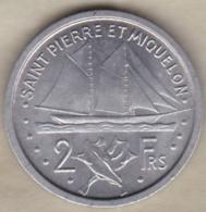 Saint Pierre Et Miquelon – Union Française. 2 Francs 1948 , Aluminium - Colonies
