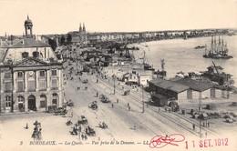Cartolina Bordeaux Les Quais Vue Prise De La Douane 1912 - Cartoline