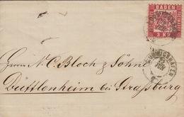 Baden 3 Kr Auf Briefumschlag ( 1871 Ludwigshafen / Mi. Nr 24 (?) - Baden