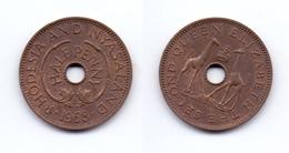 Rhodesia & Nyasaland 1/2 Penny 1958 - Rhodesia