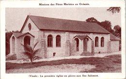 OCEANIE --  SALOMON - La Première église En Pierre Aux Iles - Salomon