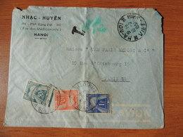 Enveloppe De Hanoi Pour Paris - Par Avion - 1952 - Taxée - Vietnam