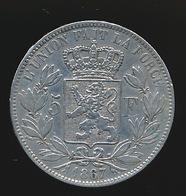 BELGIE LEOPOLD II  5 FRANC  1867    MOOIE KWALITEIT  2 SCANS - 1865-1909: Leopold II