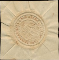 Luckau, Spreewald: Gros Insigel Des Raths Zu Luckau 1678 Siegelmarke - Erinnofilie