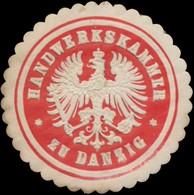 Danzig: Handwerkskammer Zu Danzig Siegelmarke - Erinnophilie